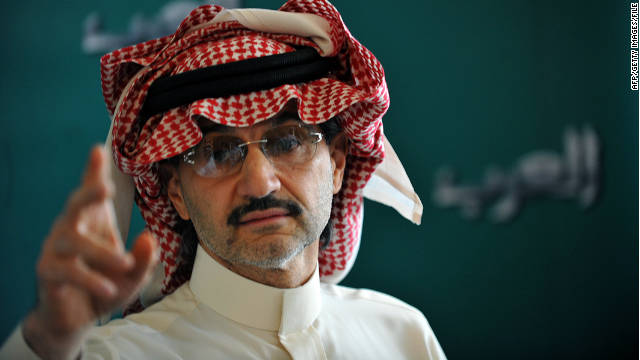 Saudi Prince Alwaleed Bin Talal's investment group purchased a $300 million stake in Twitter
