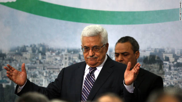 Palestinian Authority President Mahmoud Abbas delivers a speech announcing Palestinian bid for U.N. membership.