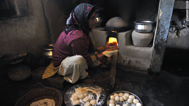 Poor women and children who spend time at home are exposed to indoor air pollution.