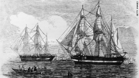 HMS Terror and its sister ship, HMS Erebus, together with a total of 129 men, disappeared in the 1840s.