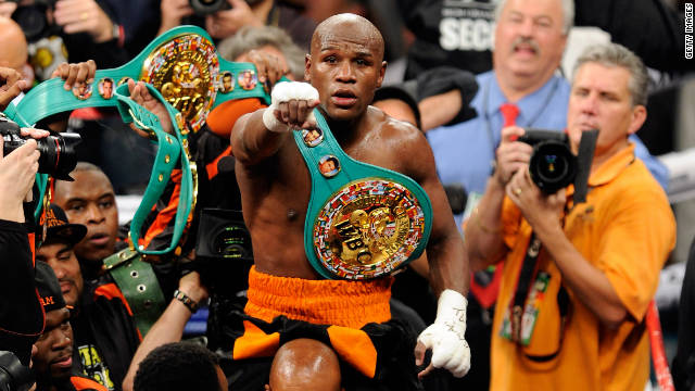 Floyd Mayweather was arrested in September 2010 after police say he punched the mother of his children at his home.