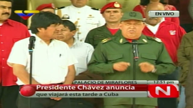 2011: Chavez heads to Cuba for chemo
