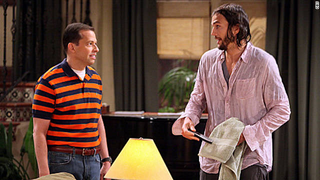 "Ashton Kutcher made his debut on ""Two and a Half Men"" Monday night."