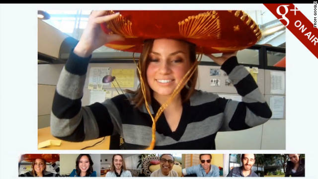 "A Google+ feature called ""On-Air Hangouts"" lets users broadcast their group video chats to the world."