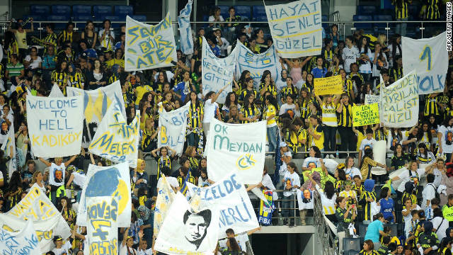 More than 43,000 female fans turned up to watch Turkish side Fenerbahce play.