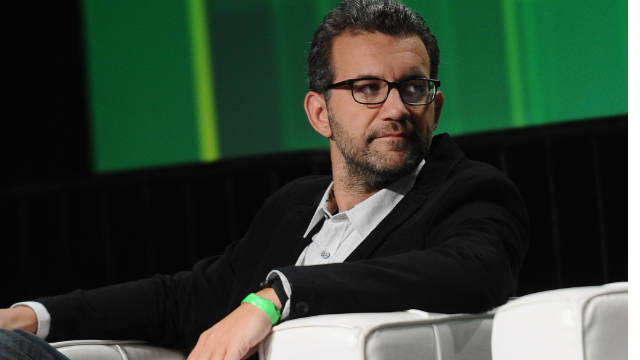 Pandora founder Tom Conrad speaks at this year's TechCrunch Disrupt conference in San Francisco.