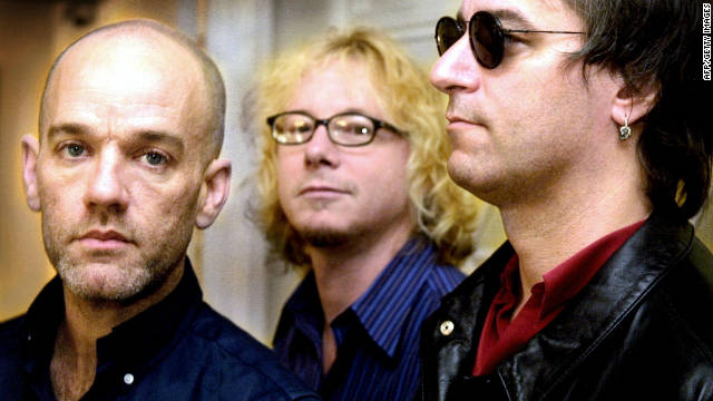 Michael Stipe, from left, Mike Mills and Peter Buck carried on after drummer Bill Berry, not pictured, left the band in 1997.
