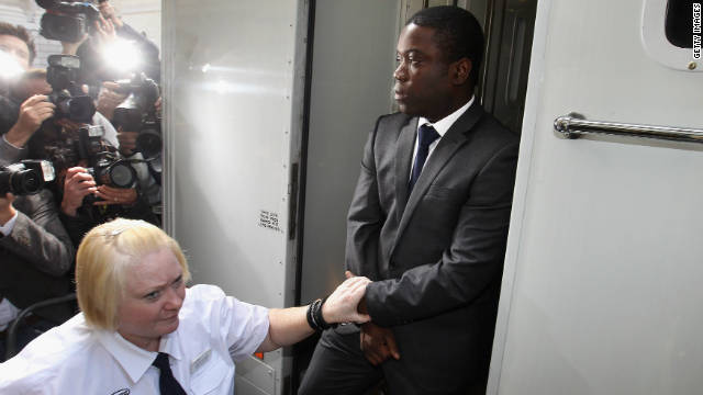 Kweku Adoboli arrives at the City of London Magistrates Court on September 22, 2011.
