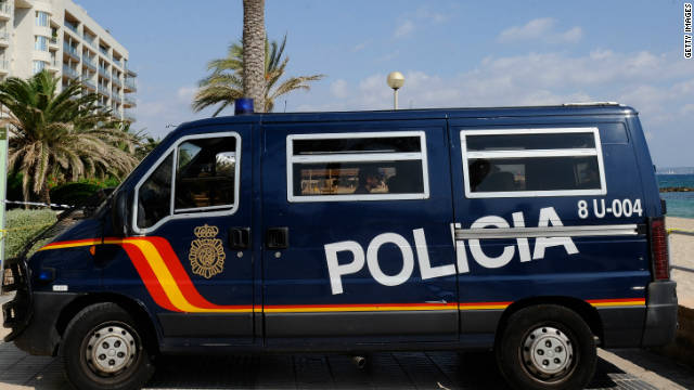 The suspect is required to report daily to the police station nearest his home in the island of Mallorca (file photo).