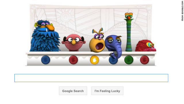 "Google celebrates Muppets creator Jim Henson's birthday with an interactive ""doodle"" on its homepage."