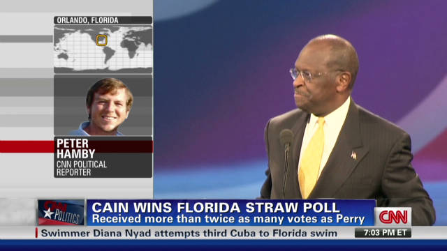 Cain wins GOP Florida Straw Poll