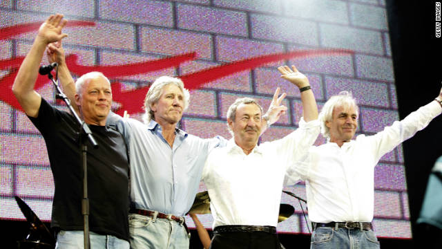 Pink Floyd -- from left, David Gilmour, Roger Waters, Nick Mason, Richard Wright -- at 2005's Live 8 concert. Wright died in 2008.
