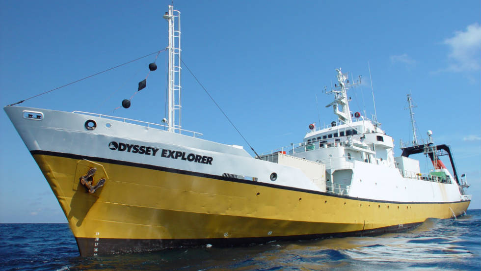 Experts on board the Odyssey Explorer, Odyssey Marine Exploration's wreck-hunting ship, hope to bring the silver to the surface.