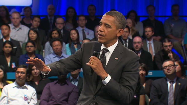 """Open for Questions with President Obama"" was streamed live on the White House website."
