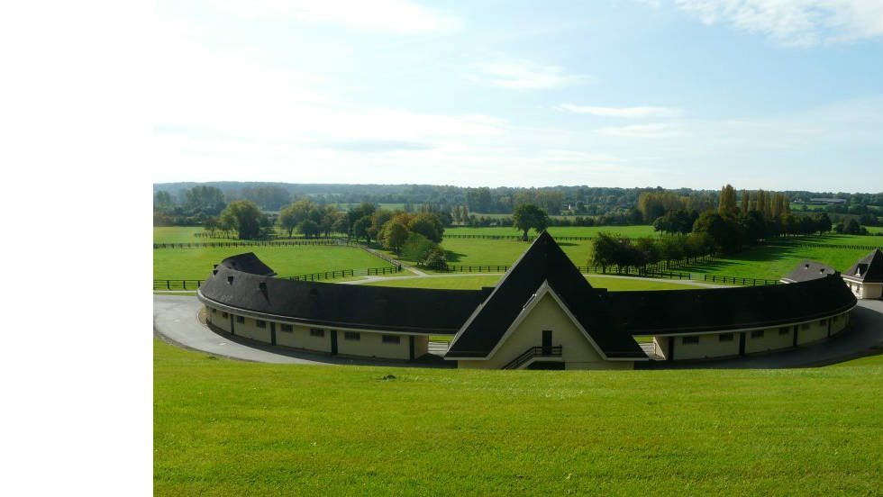 The Aga Khan stud farm is located in the green fields of Normandy in north-west France.