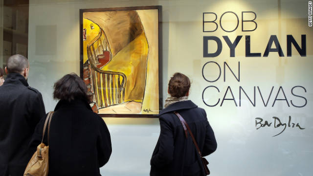 """Bob Dylan says that he paints """"mostly from real life. It has to start with that. Real people, real street scenes."""""""