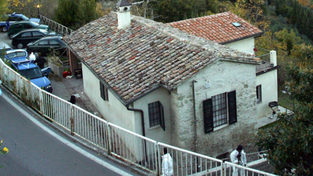 The house where Kercher and Knox lived in Perugia, Italy.