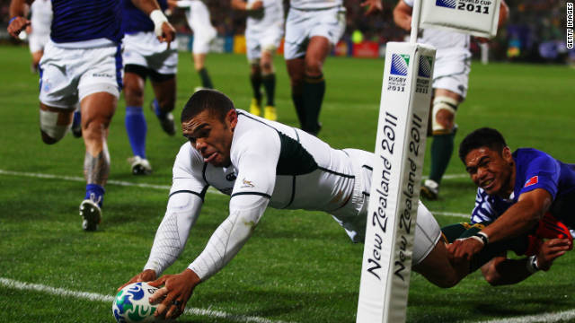 Bryan Habana is South Africa's all-time leading try scorer with 40 in international rugby.