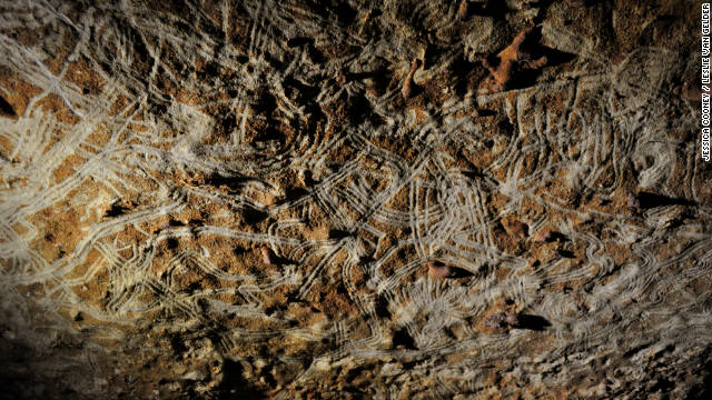 """Children and adults alike made """"finger flutings"""" on the inside of cave walls during the hunter gatherer period."""