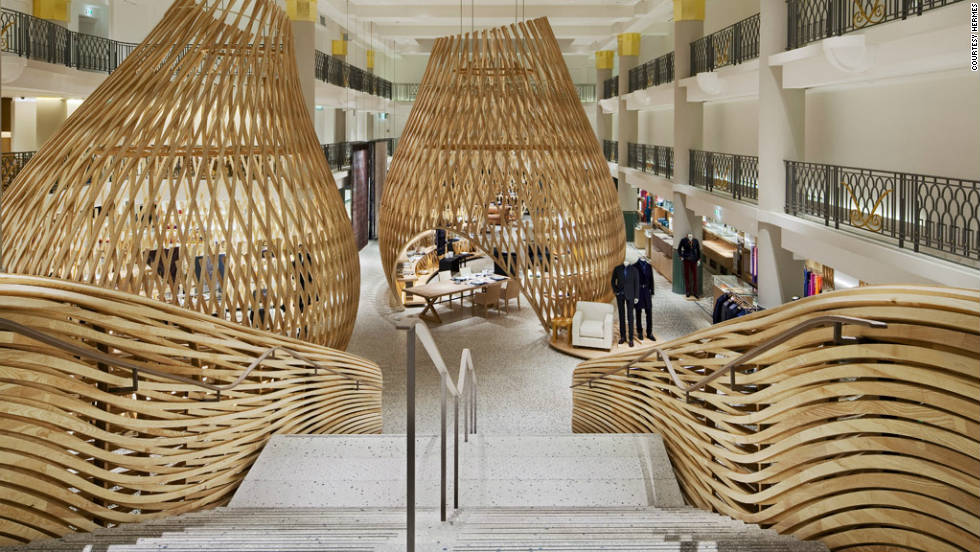 On the inside meanwhile, architects RDAI have tried to capture the craft of six generations of Hermes designers.