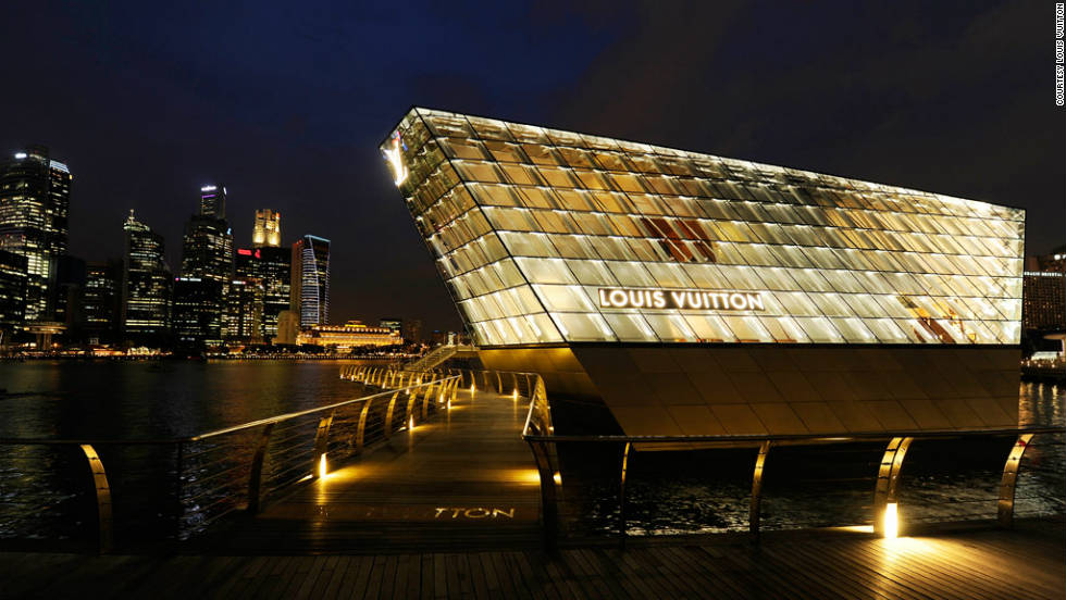 A digital image of Louis Vuitton Island Maison in Singapore is the latest collaboration between the fashion label and architect Peter Marino.