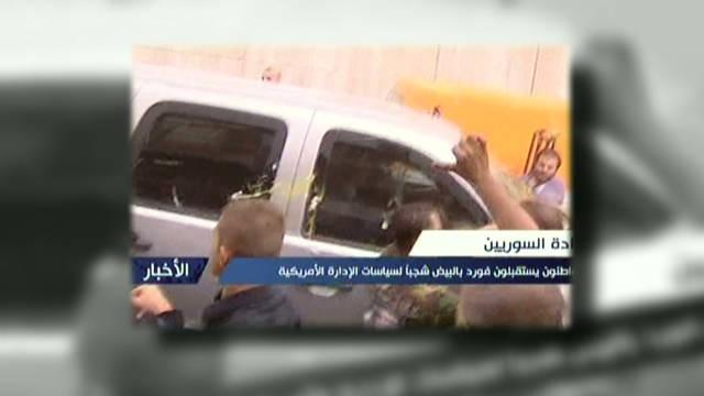 Syrians attack U.S. ambassador delegation