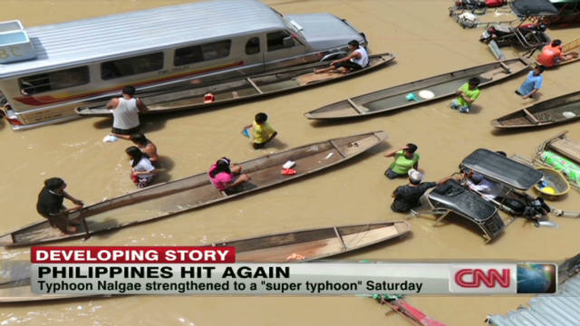 Philippines hit with another typhoon