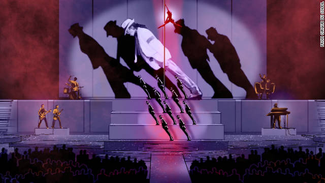 "Cirque du Soleil provided this storyboard image from ""Michael Jackson: The Immortal World Tour."""