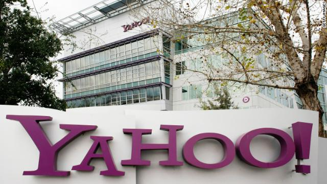 In this file photo the Yahoo logo is seen on a sign outside of the Yahoo Sunnyvale campus January 22, 2008 in Sunnyvale, California.