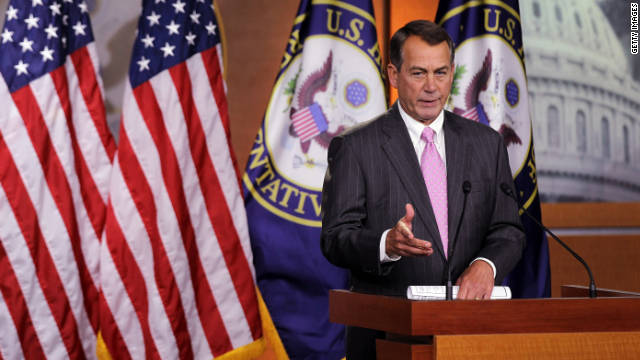 Speaker John Boehner, R-Ohio, sent a letter urging President Barack Obama to support GOP-sponsored legislation Monday.