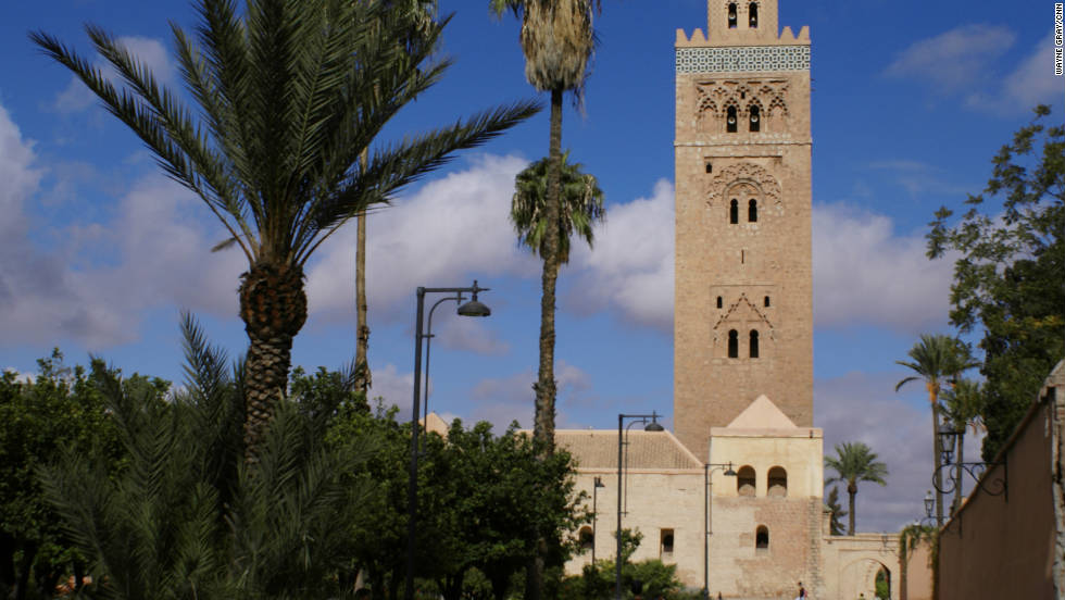 Marrakech's largest mosque has a minaret that dates back to the 12th century. Though non-Muslims are not allowed inside, there is much to admire in the gardens just outside the mosque.