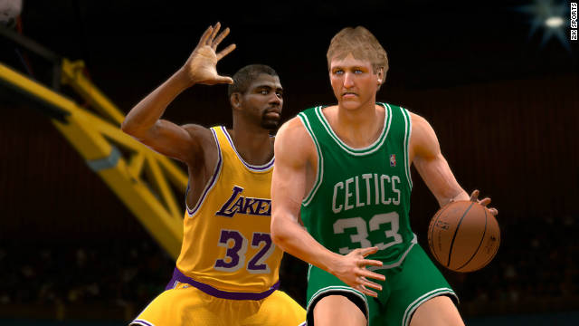 "There may not be a new NBA season, but you can make NBA legends Magic Johnson and Larry Bird face off in ""NBA2K12."""