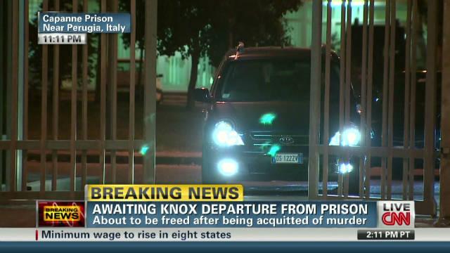 Amanda Knox leaves Italian prison