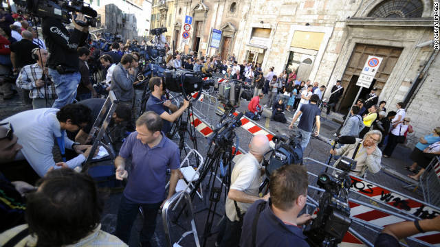 The appeal hearing in Perugia for Amanda Knox and Raffaele Sollecito attracted worldwide media interest.