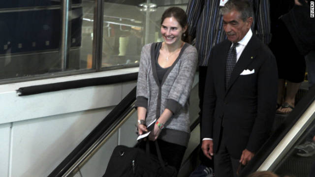 Amanda Knox leaves Italy on Tuesday to head home to the United States.