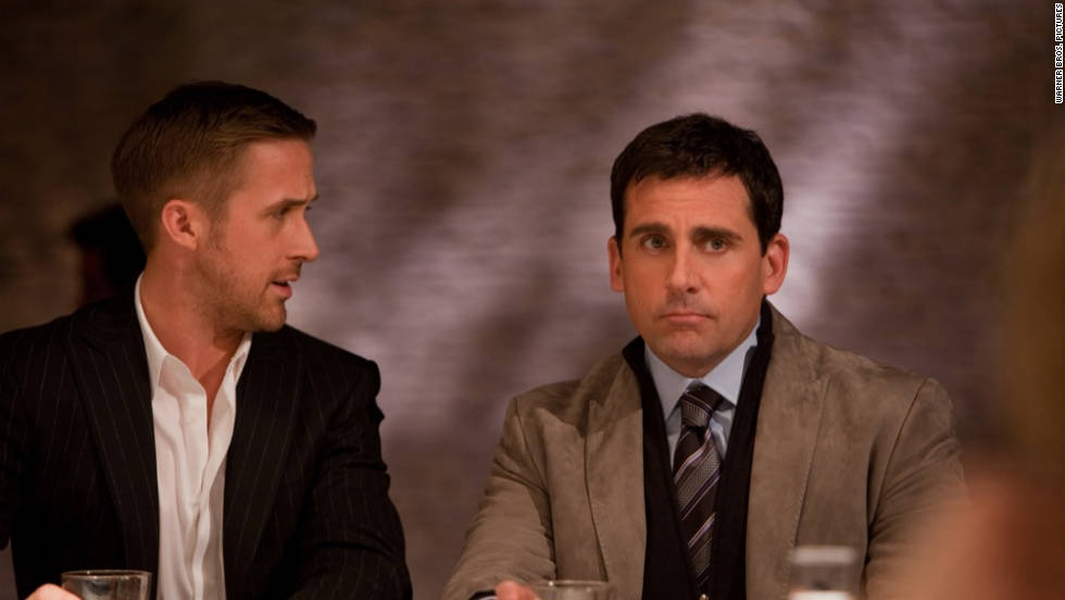 "When Cal's (Steve Carell) wife (Julianne Moore) tells him she wants a divorce in ""Crazy, Stupid, Love,"" he feels as if his life is over. That is, until Ryan Gosling's suave Jacob steps in and shows Cal how to get back in the game."