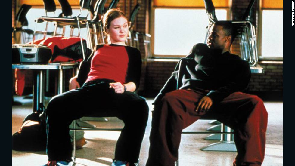 "In ""Save the Last Dance,"" Sara (Julia Stiles) stops practicing ballet after her mother's accidental death. Upon moving to a new, predominantly black neighborhood, she meets Derek (Sean Patrick Thomas), who takes her under his wing."