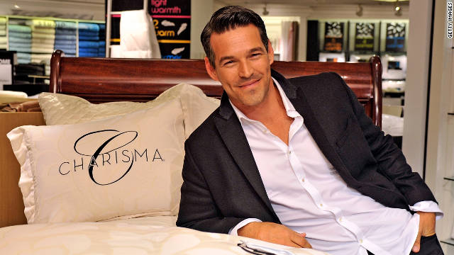 Eddie Cibrian suffered a deep gash on his right heel after he caught it under a 200-lb. steel door.