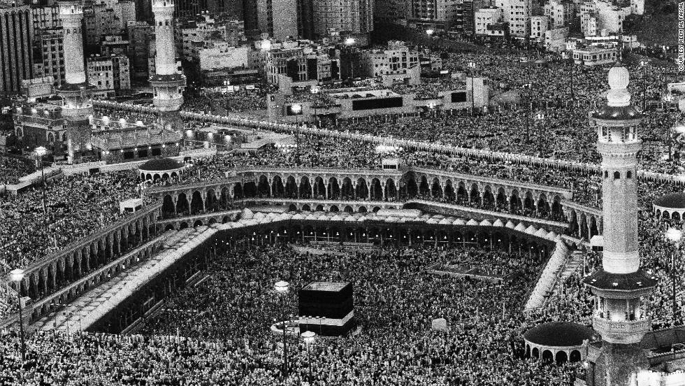 Many of Reem Al Faisal's photographs also feature the Hajj -- or pilgrimage -- to Mecca