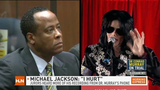 "Michael Jackson: ""I hurt"""
