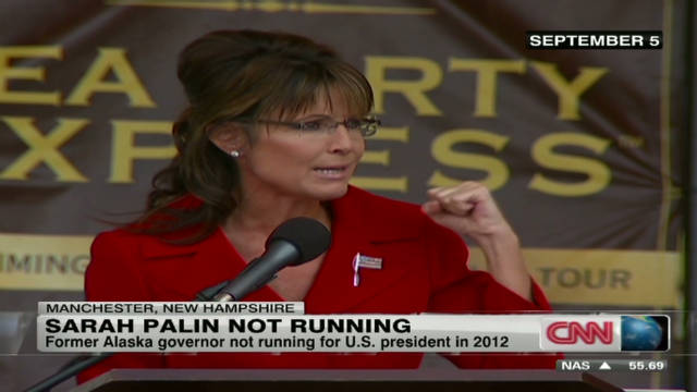 Reasons why Sarah Palin isn't running