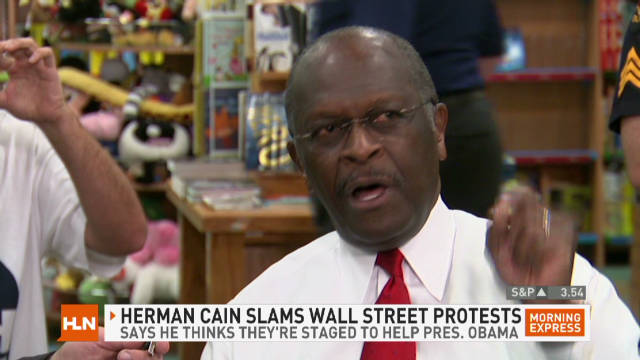 "Herman Cain slams ""Occupy Wall Street"""