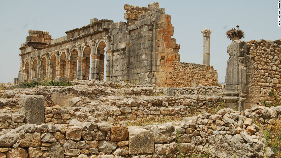 "Marc Burba captured this ancient view. ""The Basilica of Volubilis served as a courthouse,"" he said."