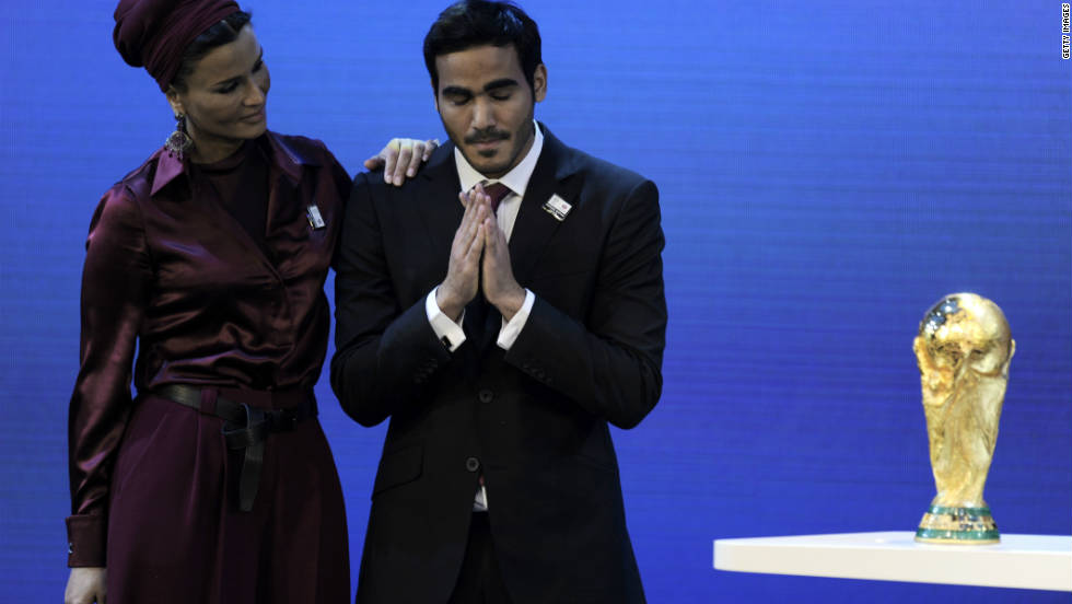 The winning bids for the 2018 and 2022 World Cup finals are announced. Russia wins the bid to host the 2018 tournament, with England garnering just two votes despite a last minute meet-and-greet blitz involving UK Prime Minister David Cameron, David Beckham and Prince William. But the big shock came when Blatter announced that Qatar would host the 2022 World Cup.