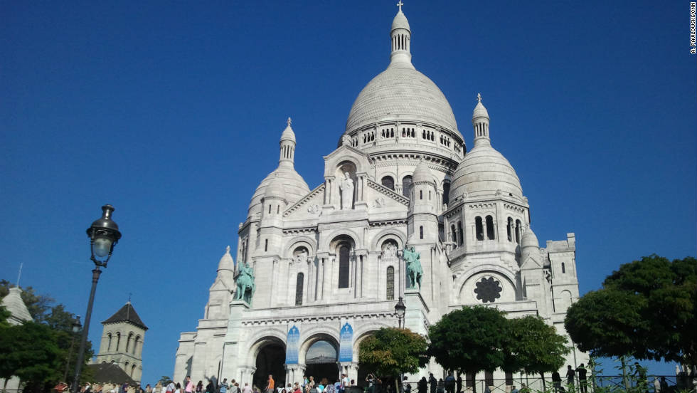 The Sacre Coeur Basilica offers sweeping views of Paris.