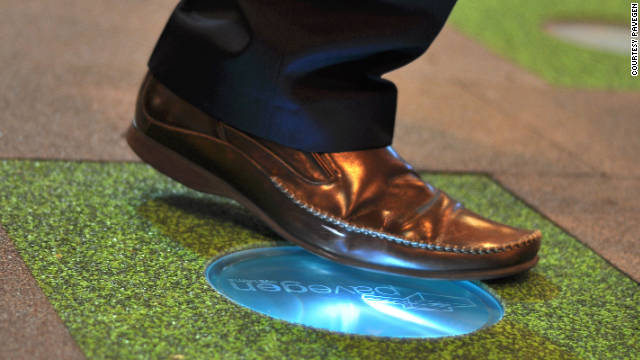 """""""PaveGen"""" pavement slabs convert the energy from footsteps into electricity."""