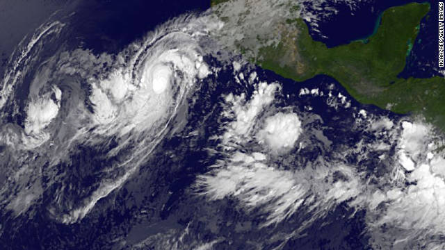 Hurricane Jova is moving slowly toward western Mexico. Forecasters say it could become a major hurricane by Monday.