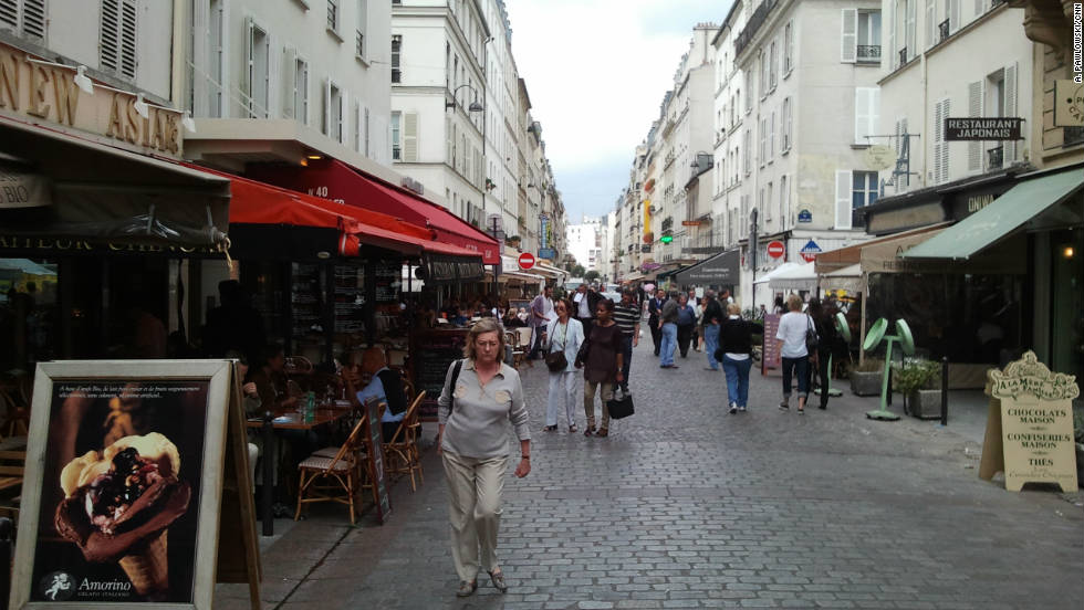 Rue Cler is a pedestrian market street dotted with bistros and shops.