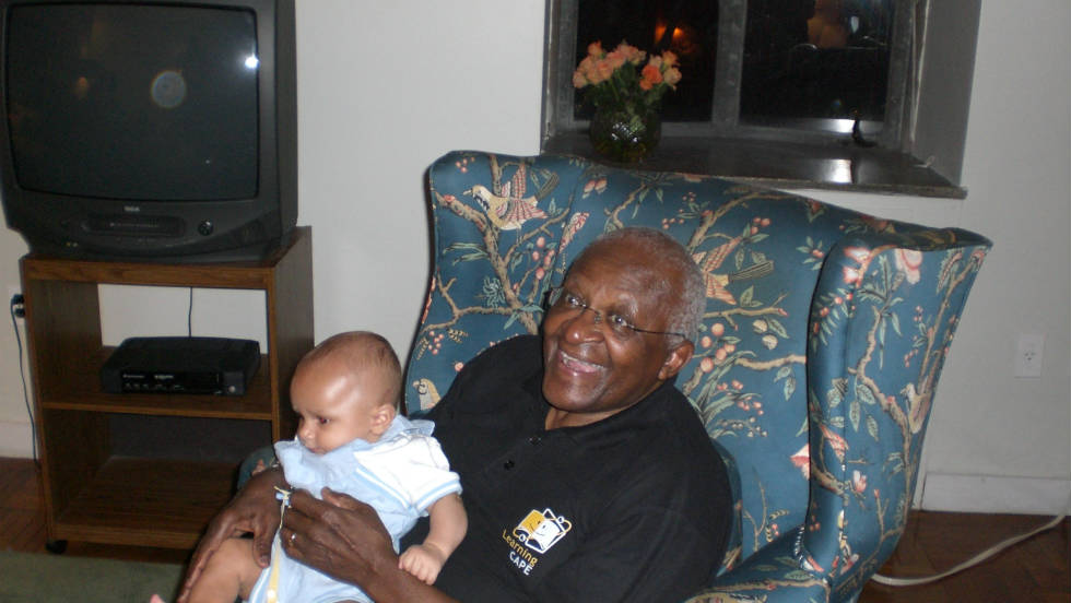 "Donna Lynn Blackwell asked Archbishop Tutu to bless her grandson  when he was in New York City in 2008. ""Archbishop Tutu is goodness personified,"" Blackwell said. ""So when my grandson Miles Taylor was born in June of 2007 my most fervent wish for him was for Archbishop Tutu to hold him and bless him."""