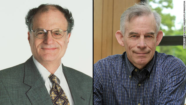 Professors Thomas Sargent, left, and Christopher Sims share the Nobel Memorial Prize in Economic Sciences.